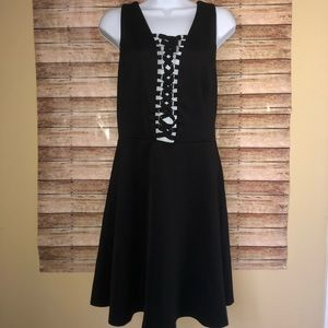 Forever 21 Sleeveless Lace Up Black Dress Plus 1X